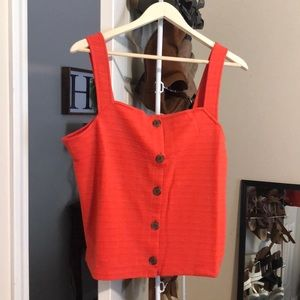 NWT! J Crew button front tank